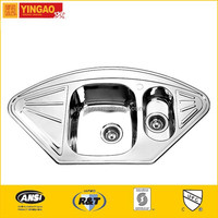 1020B Latest product corner sinks for kitchens