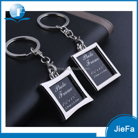 Zinc alloy metal cheap fashion custom metal photo frame key chain