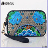 Ethnic Embroidery Cell Phone Ladies Wallet Clutch