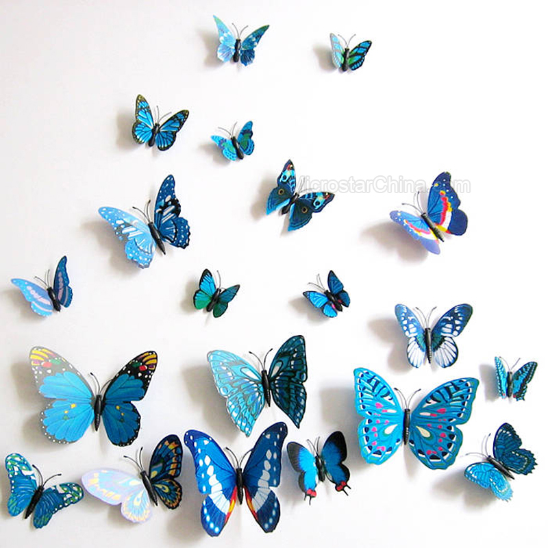3D Simulation Stereo Butterfly Sticker Room Home Decor Wall Sticker