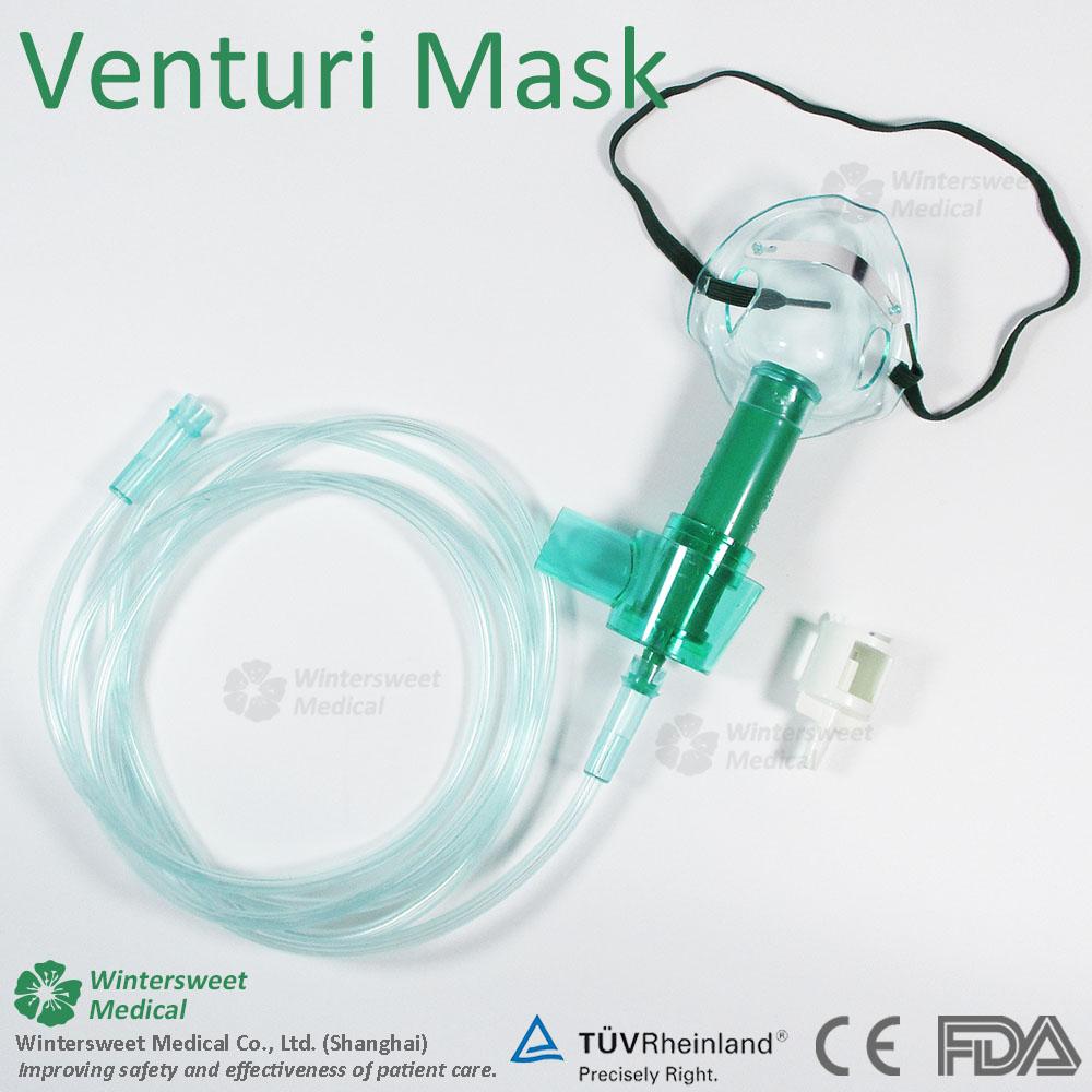 Medical Disposable Oxygen Mask Venturi Mask With 2