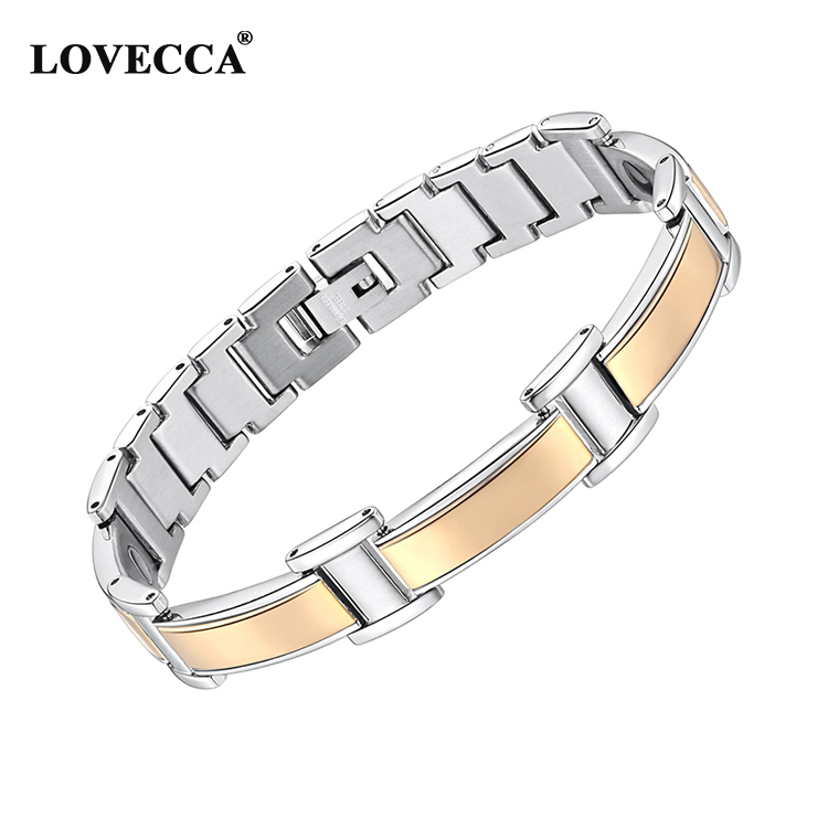 NL368J Factory Wholesale Warranty Stainless Steel Magnetic Bracelet India For Joint Pain