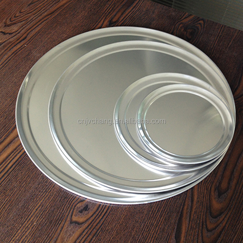 pizza tray wide rim, pizza dishes, pizza tray Aluminum baking pan pizza pan bakeware low price China Manufacture