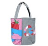 Wooden Handle Beach Bag , Metallic Beach Bag