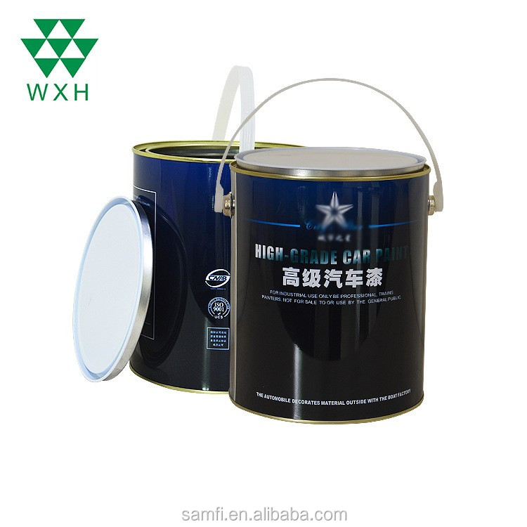 Customized Tin Can 4L Color Round Paint Cans Tin Factory for Print,Ink,Chemical used