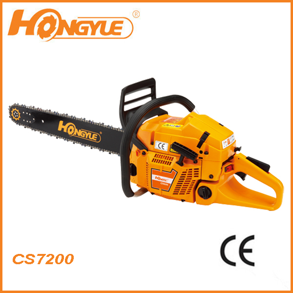 "durable professional HUS style 72cc gasoline/dolmar CE Chainsaw 7200 with 24"" bar"
