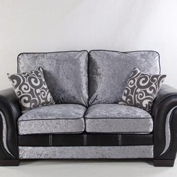Germany Living Room Luxury Italian Silver Nova Leather Design Sofa