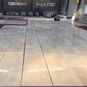 China interior building materials flooring beige marble new crema marfil slabs