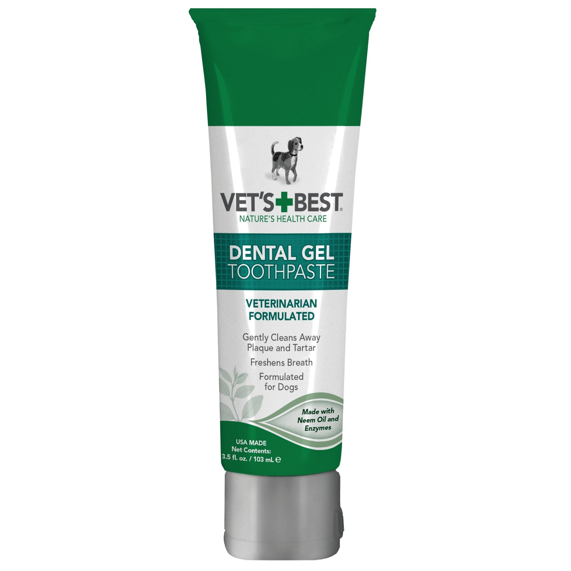 Vet's Best Enzymatic Dental Gel Toothpaste for Dogs, USA Made