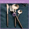 QT00230 New European style rose gold stainless steel top choice dinnerware