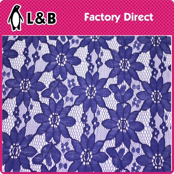 wholesale popular high quality lace folded yarn flower lace fabric