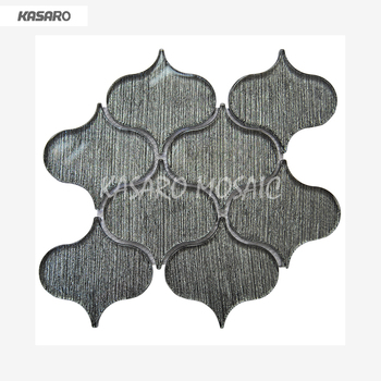 Black Plastic Mosaic Bathroom Wall Tile Arabesque Gl Tiles For Walls Pebble