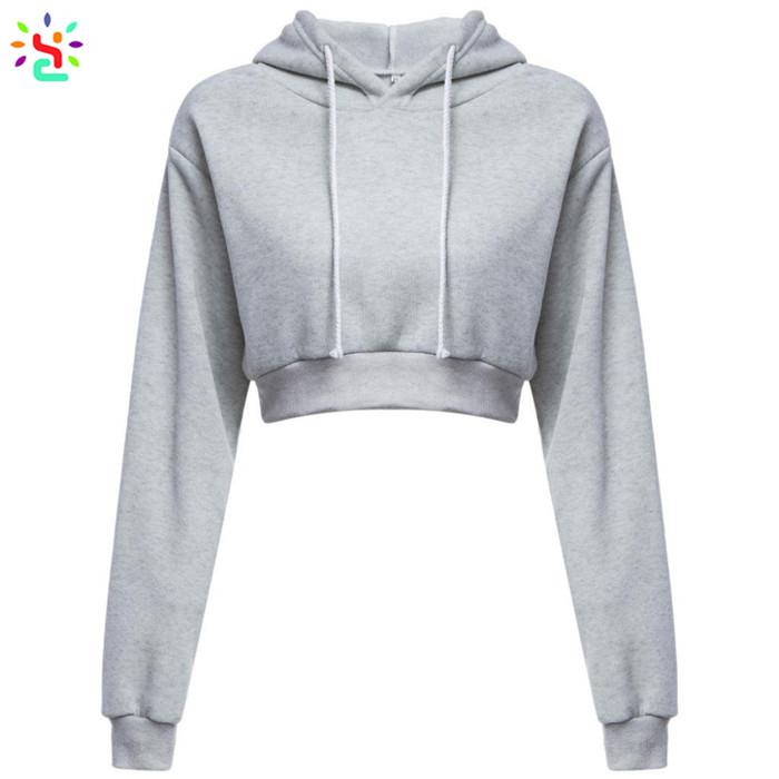 5971b7b26c91b Wholesale crop top hoodie women teen girls sweatshirt hoodie long sleeve  soft breathable pullover tops