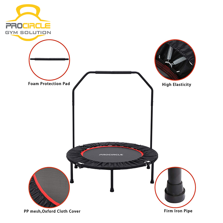ProCircle Mini Indoor Fitness Foldable Trampoline Max Load 300 lbs