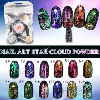 Chameleon Magic Mirror Chrome Powder Nail Flakes Glitter Color