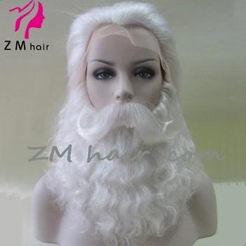 2017 Wholesale Santa Claus White Yak Beard Wig Set With