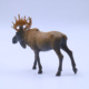 Plastic PVC Ornament gift small animal figures statue wild deer figure