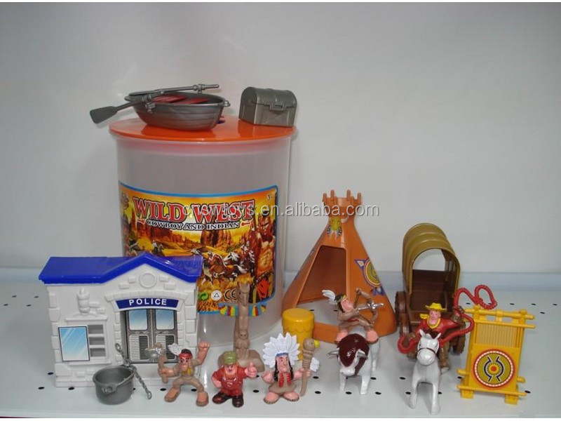 Indian Toy Action Figurines Set Boat House Accessories