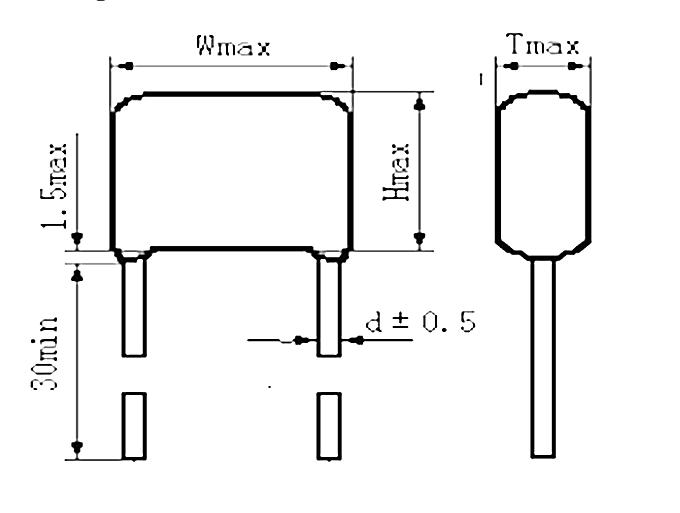 Dip Metallized Film Capacitor CBB22 1.5uf 155J/K 400V Long Life Capacitor