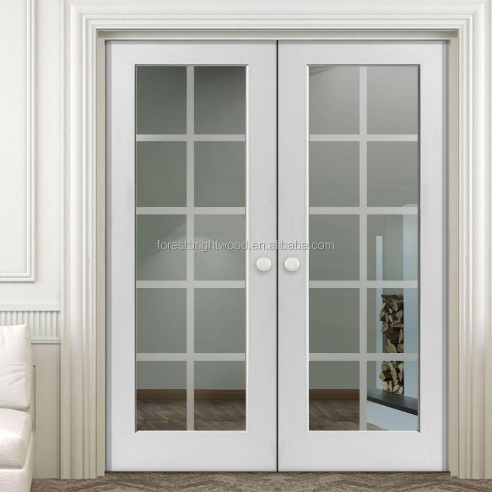 10 Lite Glass Insert Wood Interior Doorwooden Window Door Models