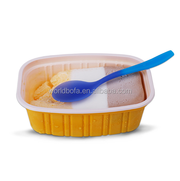 129*30mm Plastic PP Color Changing Spoons for Ice Cream