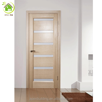 Interior Frosted Glass Modern Wooden Bathroom Doors For Sales