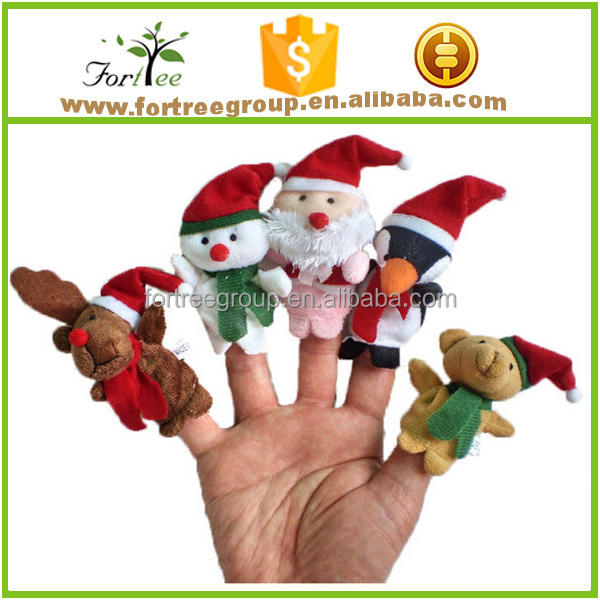 new santa claus finger dildo christmas minion plush toy and puppet