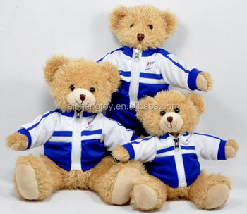 Factory Customised Bear In School Uniform Various Size