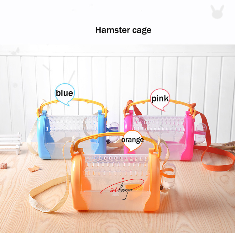 Plastic Transparent with handle Hamster Cage