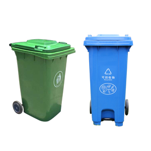 Innovative stackable 240L plastic garbage waste bin container with pedal