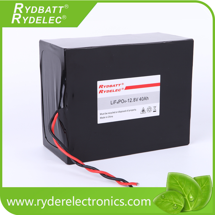 Rechargeable sealed LiFePo4 battery 12.8V 40ah for computer backup power