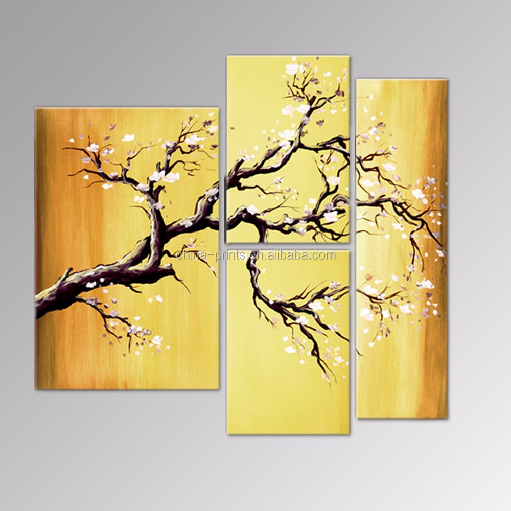 Plum Blossom Canvas Paintings/group Flower Handmade Artwork/modern ...