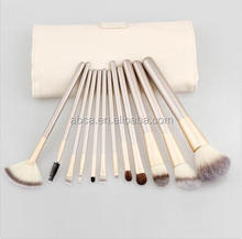 Leather case package fondation co smetic tool Pro 12 pcs makeup brushes set