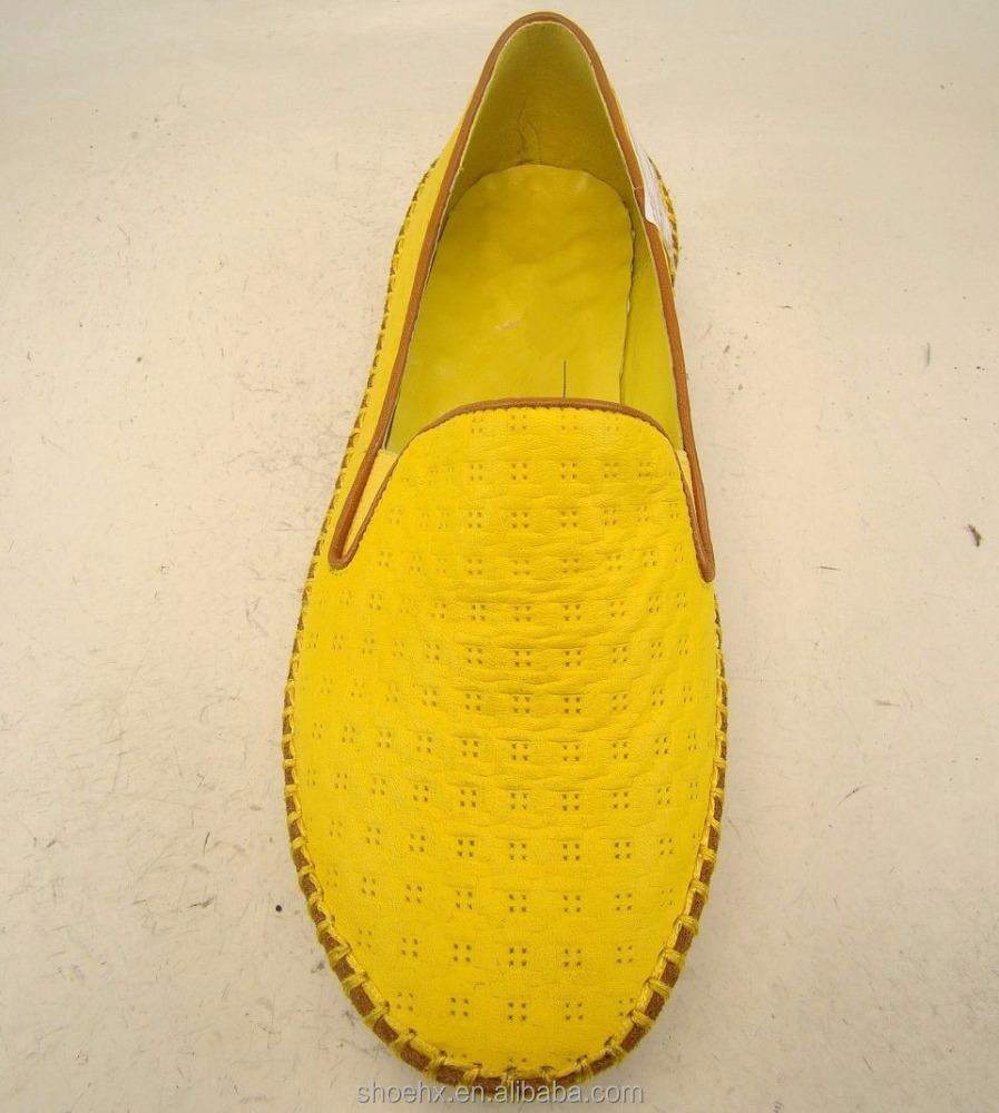 women and 615W summer slip yellow casual blue E4W on 1 boat shoes qqnOtZwP1