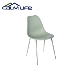 wholesale cheap plastic dining chair  with metal leg