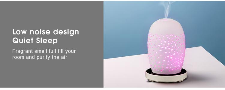 초음파 쿨 안개 아로마 디퓨저 에센셜 오일 전기, 2019 화이트 세라믹 향기 디퓨저