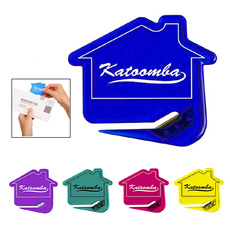 Good quality promotion gift funny office stationery durable plastic giveaway house shaped letter opener