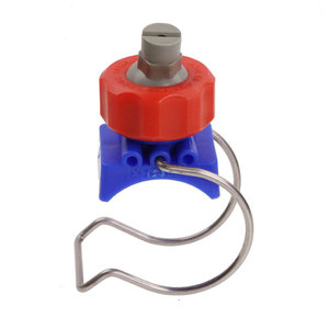 Factory price water washing and cleaning adjustable plastic clip spray clamp eyelet misting nozzle