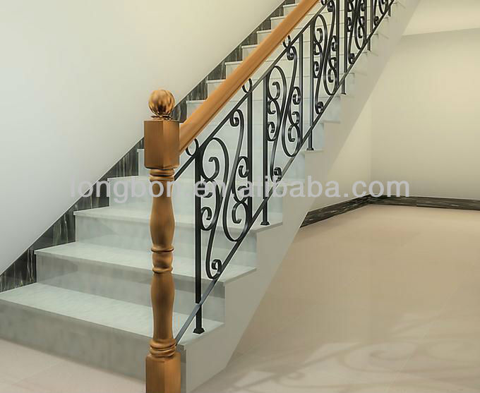 Top Selling Modern Interior Wrought Iron Railing Stairs