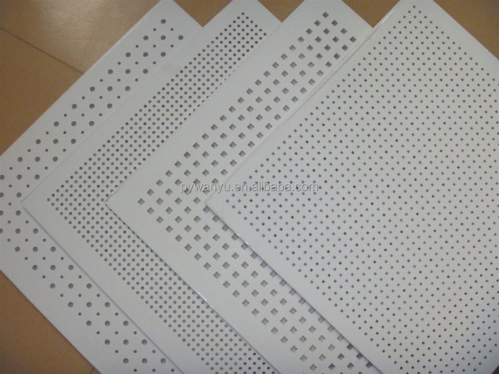 Perforated Gypsum Ceiling Tile Drywall Ceiling View Pvc Laminated