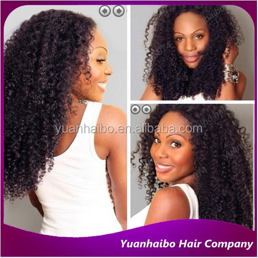 Best selling 1b# indian virgin hair afro kinky curly human hair full lace wig for black women