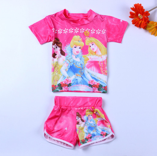 Kids Frozen Swimsuit Girls Sofia Swimwear Princess Swimming Suit For