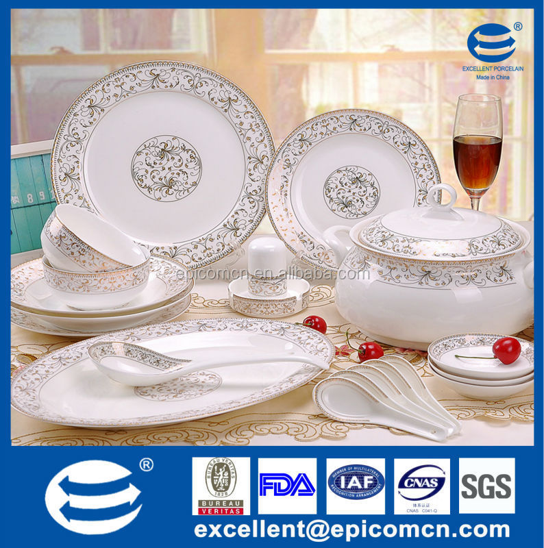 New bone china dining table set wholesale dinnerware China dinnerware Turkish dinnerware set with  sc 1 st  Alibaba : dining tableware - pezcame.com