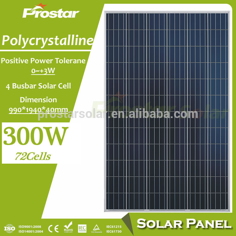 Poly Solar Panel green energy solar panel 300w 72 cells for Thailand solar systems