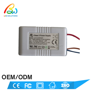 Short current 350mA constant current output 100-240VAC input CE UL list 8w led power supply