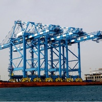 Hot sale new type 40ton container double trolley quay crane
