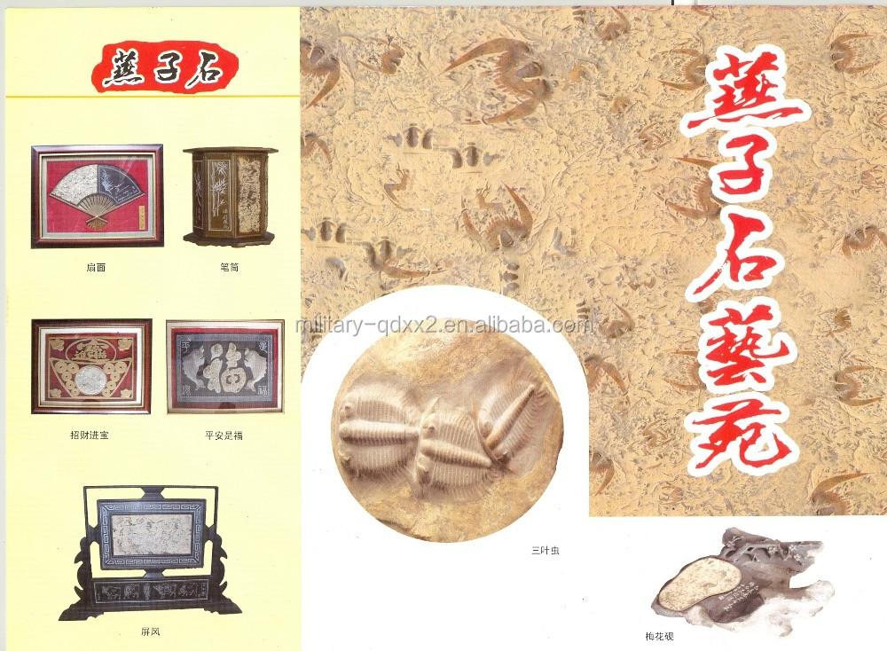 Trilobite Fossil Stone Fan Shaped Zakka Home Decoration