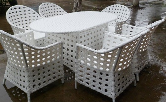 wholesale cheap outdoor white rattan wicker furniture