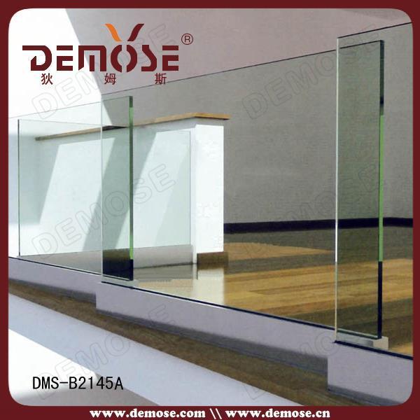 Glass Railing U Aluminum Channel / Stainless Steel Glass Railing ...