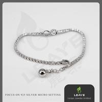 Plastic Infinity 3A CZ Stone Micro Paved s925 Bracelet